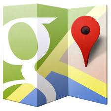 google map icon folded