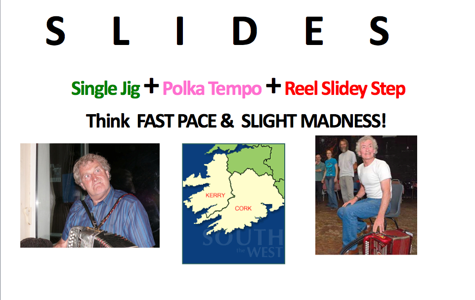 Irish slides and musical timing