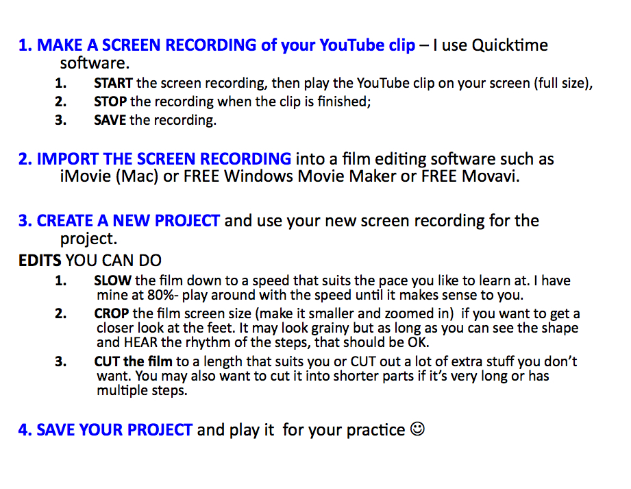Slowing YouTube instructions