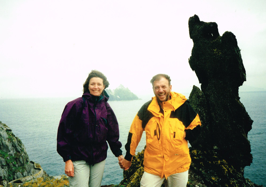 Fast friends: Pat Falvey with me on the Skellig Michael 1997