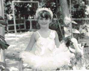 Nora ballet with tutu at 6 years